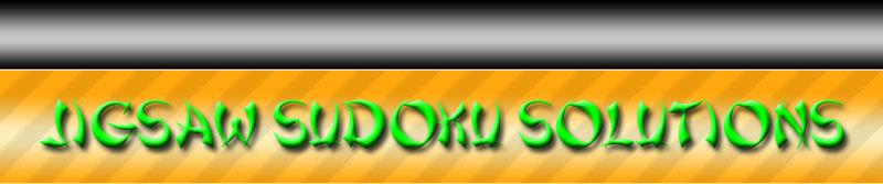 Jigsaw Sudoku solving banner